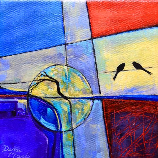 Art: Life Line - Birds on a Wire Series by Artist Dana Marie