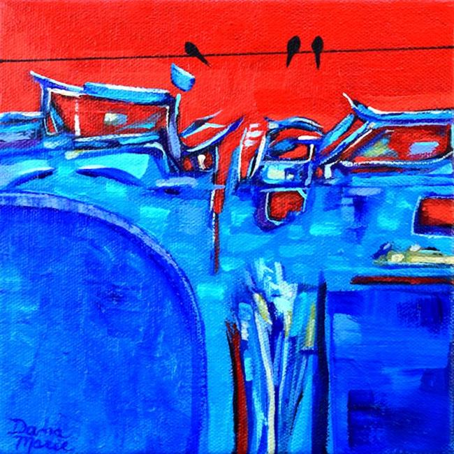 Art: Beijing ~ Birds on a Wire Series - Sold by Artist Dana Marie