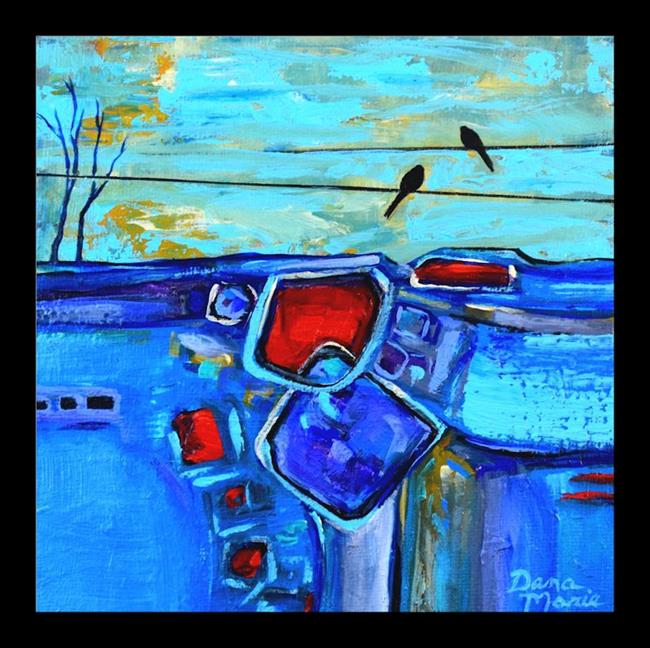 Art: Thoughts of You ~ Birds on a Wire Series - Sold by Artist Dana Marie