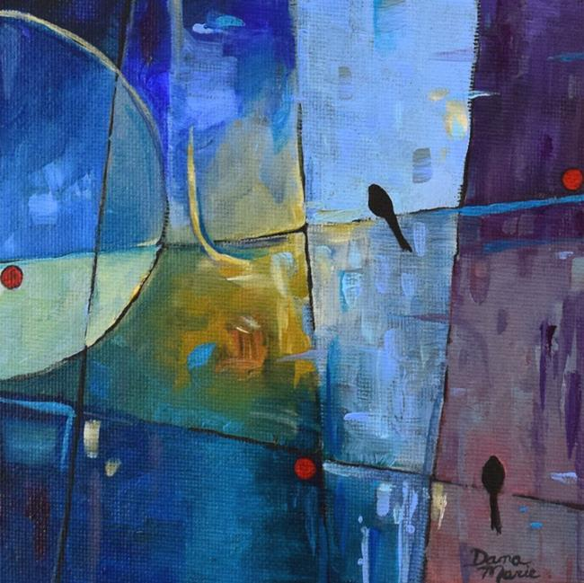 Art: City Nights ~ Birds on a Wire Series by Artist Dana Marie