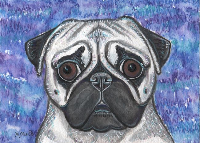 Art: Pug and Colors 1 by Artist Melinda Dalke