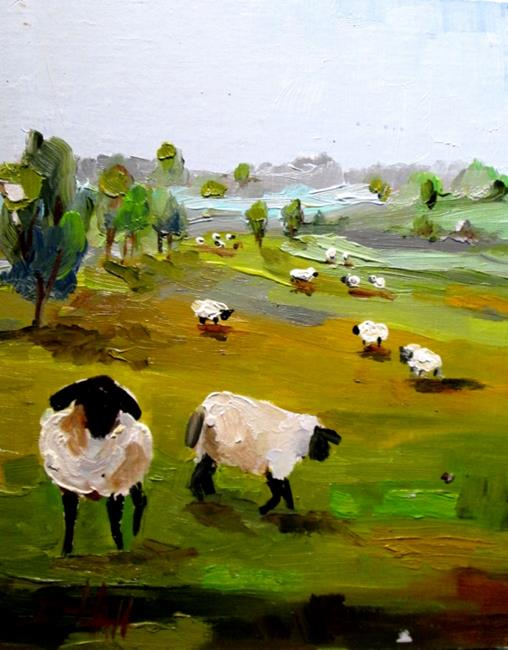 Art: Irish Sheep No. 3 by Artist Delilah Smith
