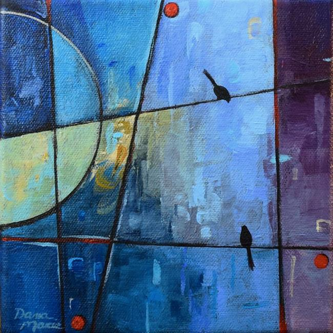Art: City Nights in Love ~ Birds on a Wire Series by Artist Dana Marie