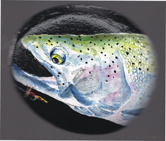 Art: Steelhead Trout by Artist Leonard G. Collins