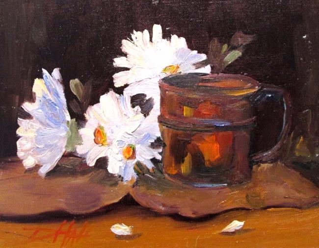 Art: Cup and Daisies by Artist Delilah Smith