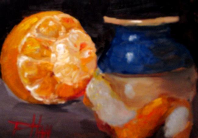 Art: Orange Still Life No. 7 by Artist Delilah Smith