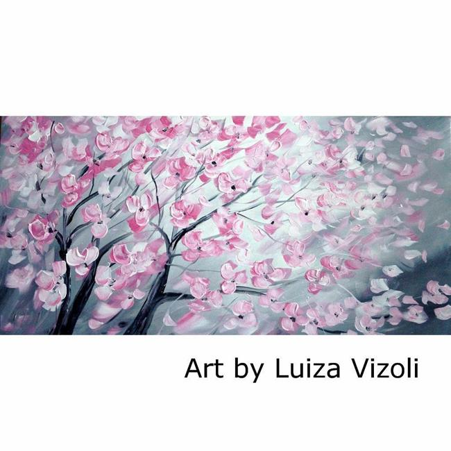 Art: PINK CHERRY BLOSSOM by Artist LUIZA VIZOLI