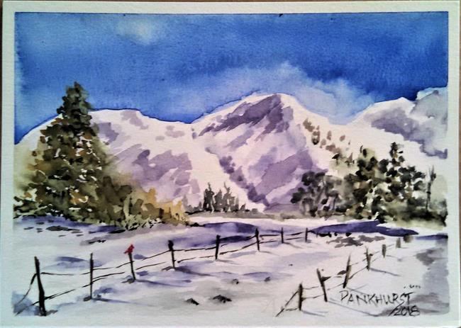 Art: Snowy Hills by Artist Bonnie Pankhurst