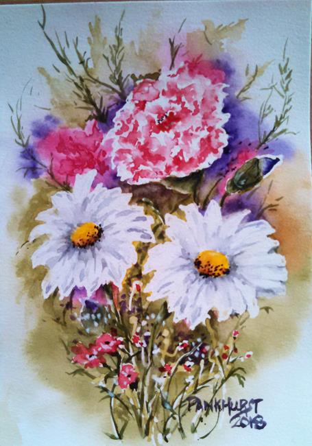Art: Spring Daisies Bouquet by Artist Bonnie Pankhurst