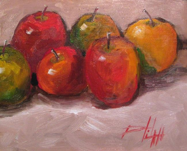 Art: Apples No. 8 by Artist Delilah Smith