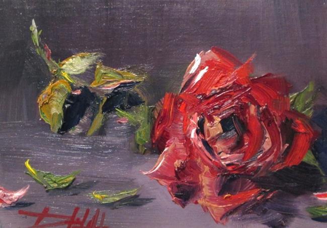 Art: Rose Still Life=sold by Artist Delilah Smith