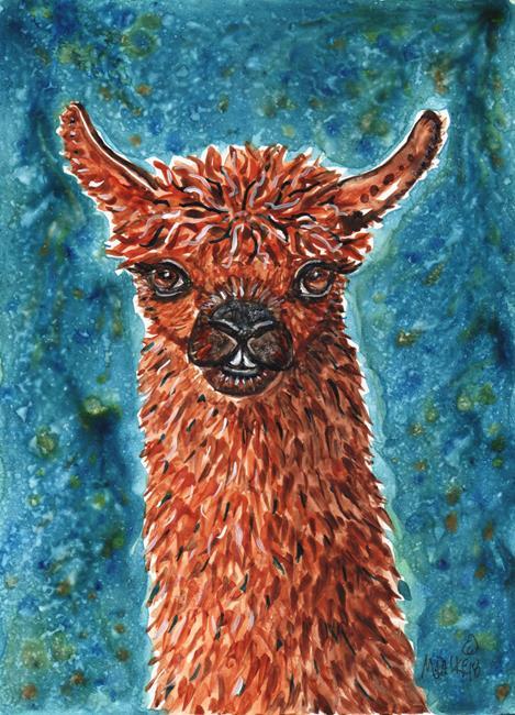 Art: Llama with Colors 2 by Artist Melinda Dalke