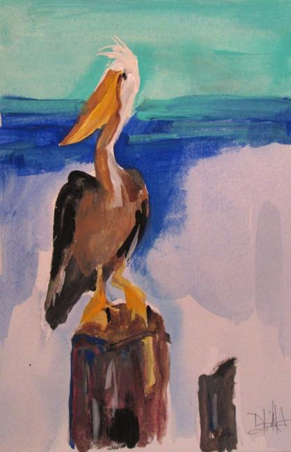 Art: Brown Pelican by Artist Delilah Smith