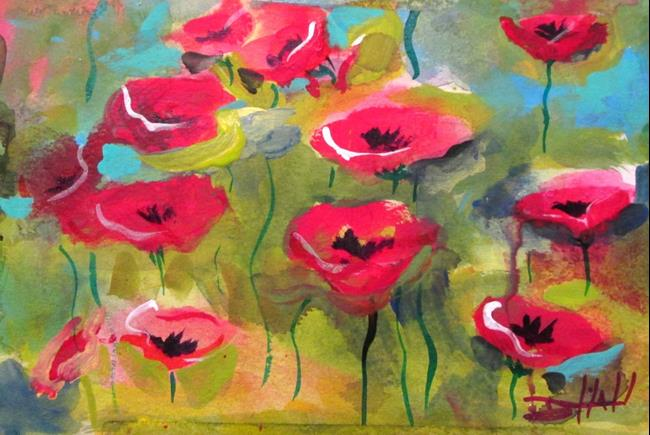 Art: Poppy Passion by Artist Delilah Smith