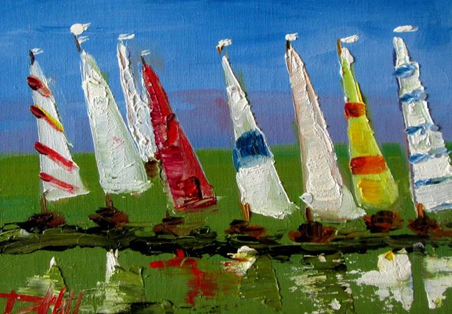 Art: Sailboats No. 4 by Artist Delilah Smith