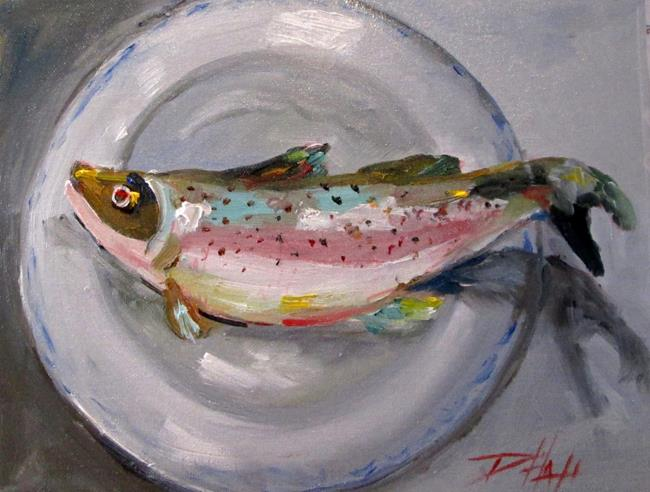 Art: Trout on a Plate-sold by Artist Delilah Smith