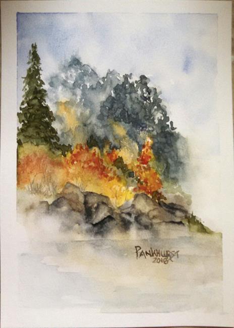 Art: Misty Maine Morning by Artist Bonnie Pankhurst