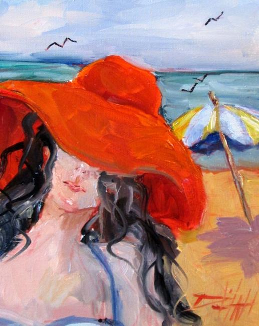 Art: Big Red Hat by Artist Delilah Smith