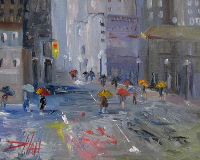Art: City Rain No.2 by Artist Delilah Smith