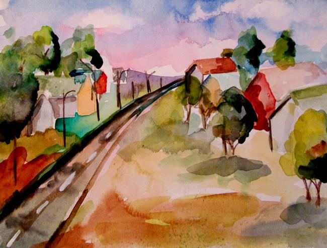 Art: Long Road by Artist Delilah Smith