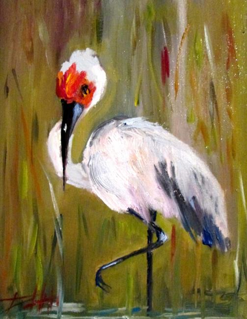 Art: Sandhill Crane=sold by Artist Delilah Smith