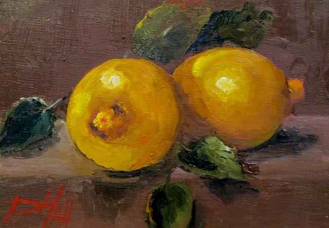 Art: Lemon Still Life No. 2 by Artist Delilah Smith
