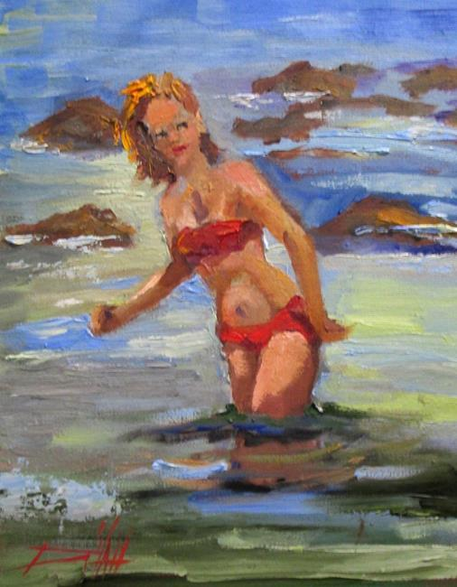 Art: The Swimmer by Artist Delilah Smith