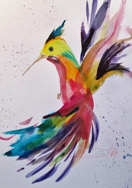 Art: Hummingbird No.9 by Artist Delilah Smith