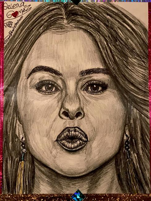 Art: ~Selena Gorgeous Gomez~ by Artist William Powell Brukner