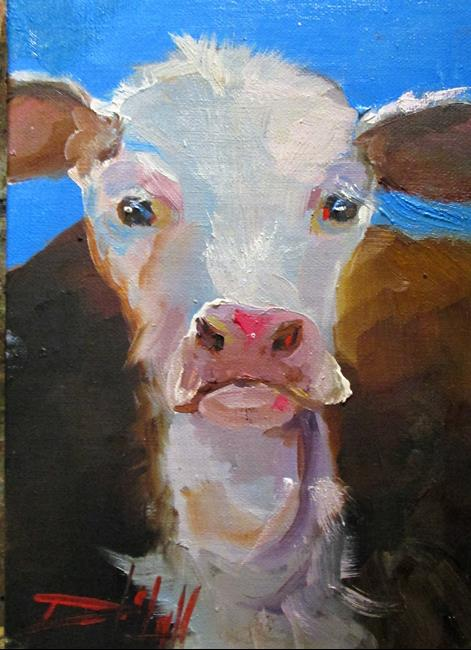 Art: Cow No.8 by Artist Delilah Smith