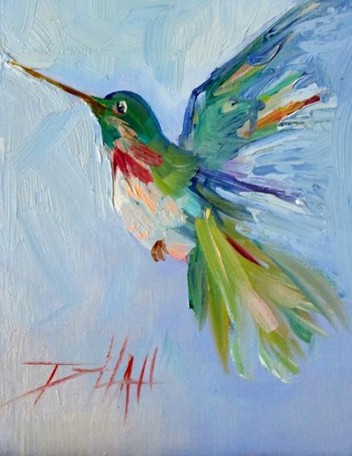 Art: Green Hummingbird by Artist Delilah Smith