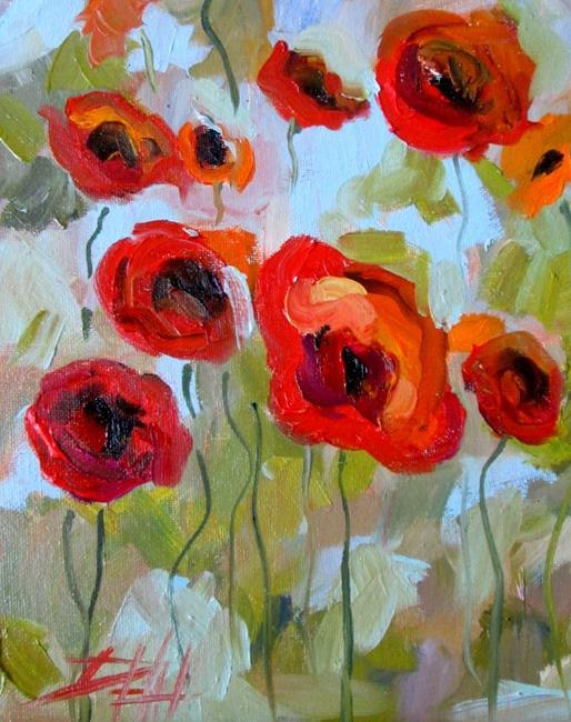 Art: Wild Poppy Field by Artist Delilah Smith