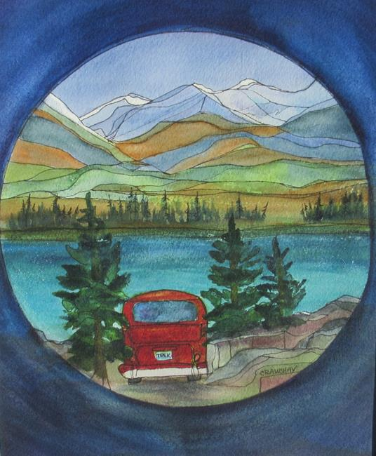 Art: Camped for the Night (sold) by Artist Kathy Crawshay
