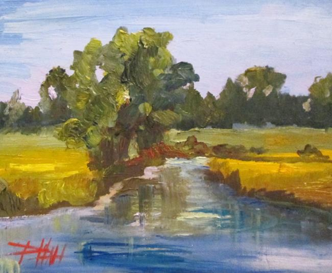 Art: Landscape with Stream by Artist Delilah Smith