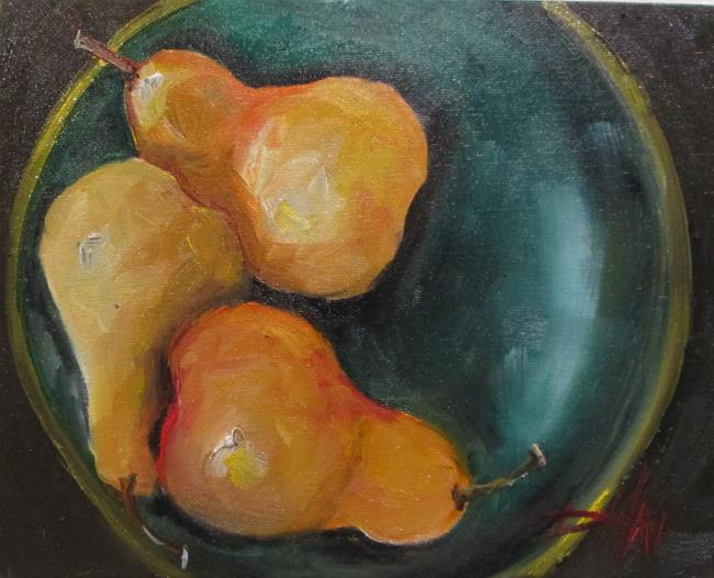Art: Pears in a Bowl-sold by Artist Delilah Smith