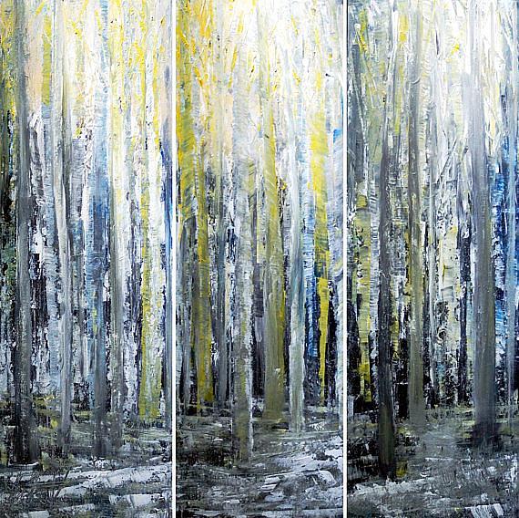 Art: BIRCH TREES.. by Artist LUIZA VIZOLI