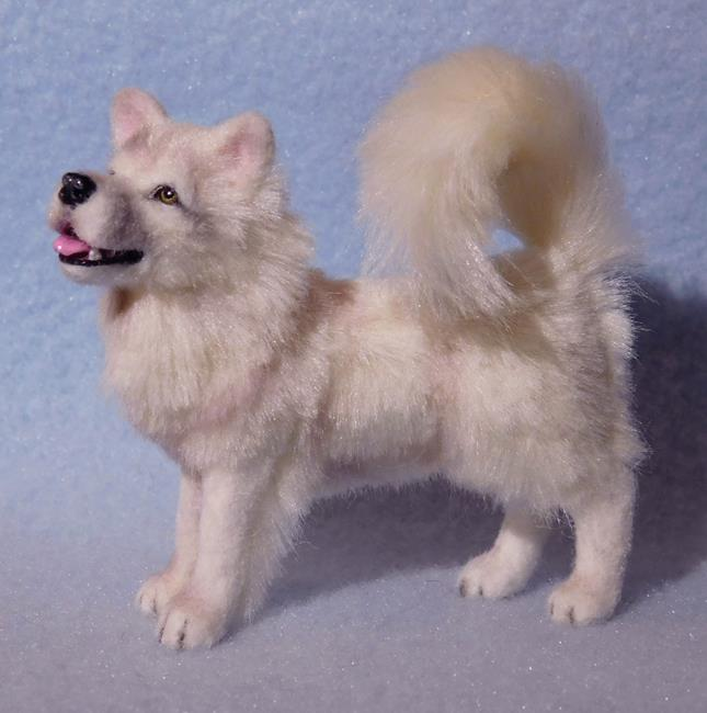 Art: Silk Furred Samoyed by Artist Camille Meeker Turner