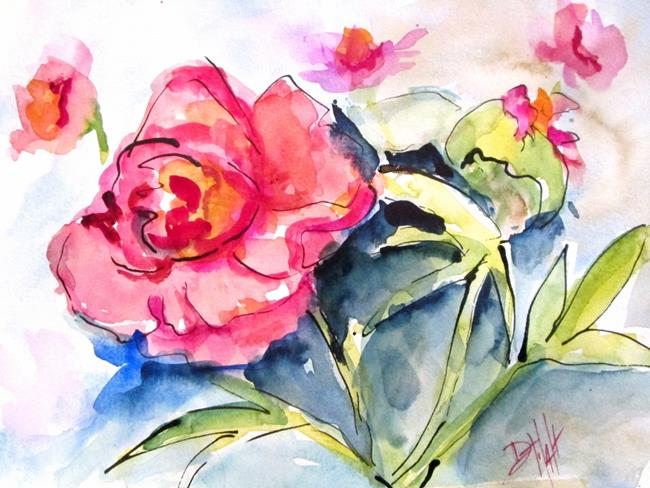 Art: Peonies No. 3 by Artist Delilah Smith