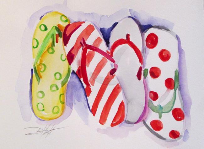 Art: Flip Flops by Artist Delilah Smith