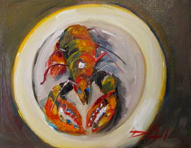 Art: Lobster on a Plate by Artist Delilah Smith