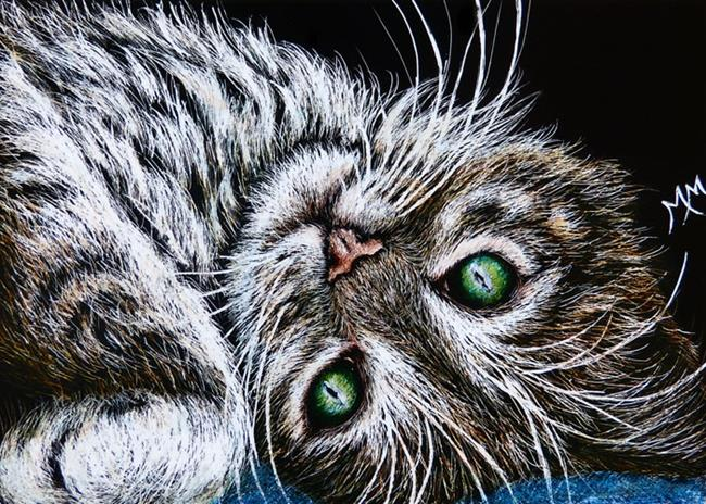 Art: Kitty  (SOLD) by Artist Monique Morin Matson