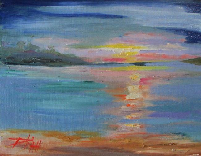 Art: Lake Michigan Sunset by Artist Delilah Smith
