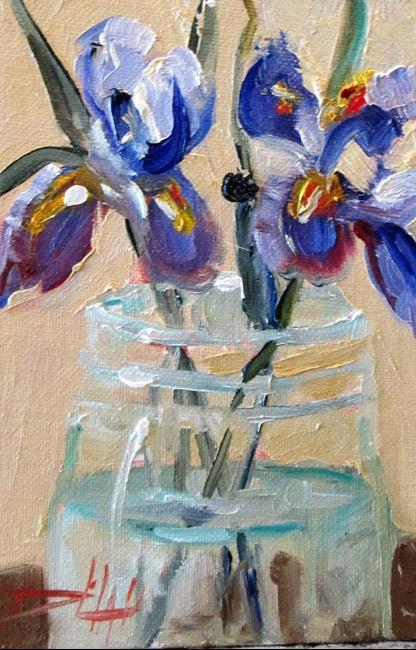 Art: Iris in a Jar by Artist Delilah Smith