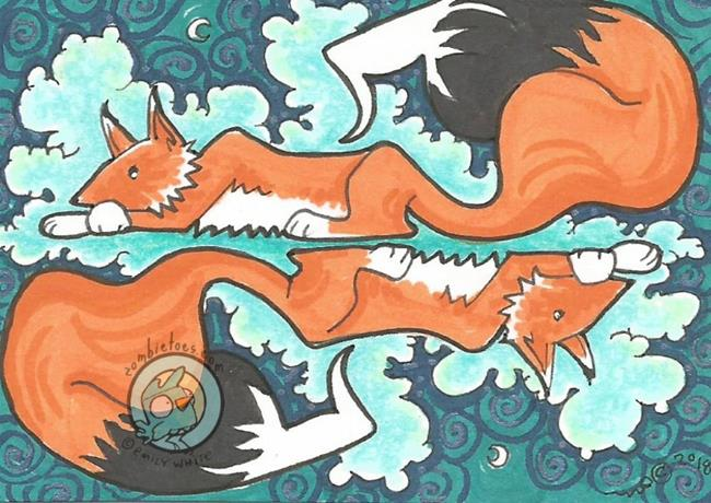 Art: Fox Moon by Artist Emily J White