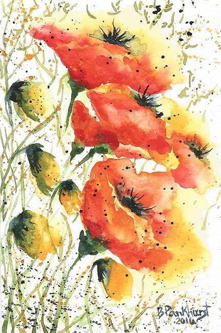 Art: Poppies by Artist Bonnie Pankhurst