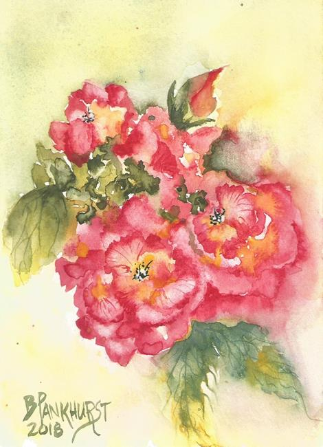 Art: Pink Wild Roses by Artist Bonnie Pankhurst