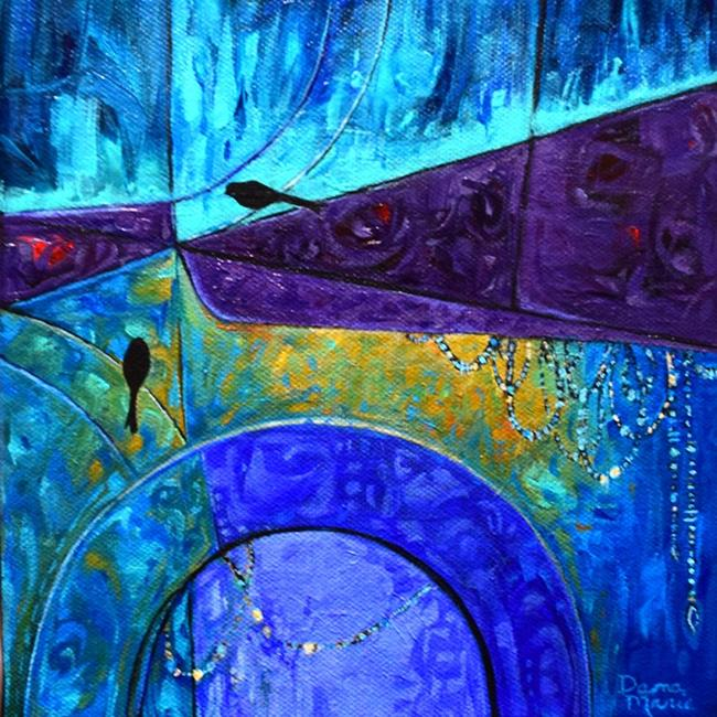 Art: Our Private Garden ~ Birds on a Wire Series - Sold by Artist Dana Marie