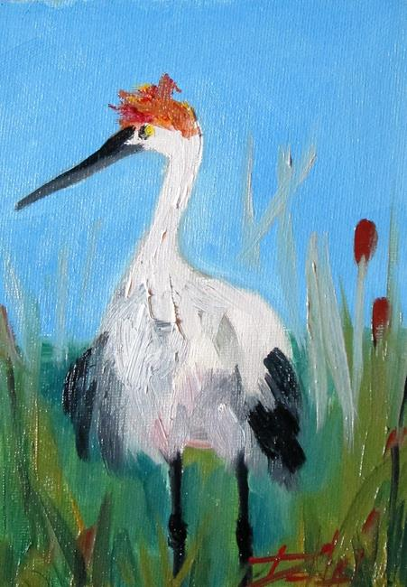 Art: Sandhill Crane by Artist Delilah Smith