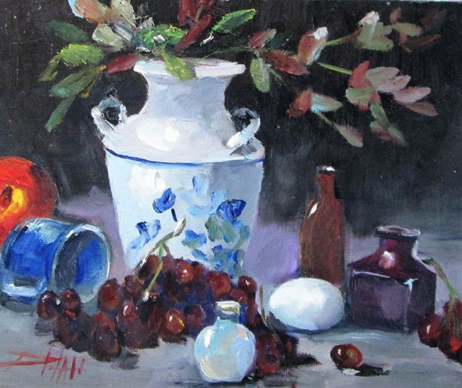 Art: Still Life with Vase by Artist Delilah Smith