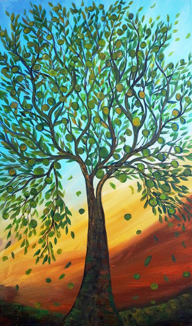 Art: olive tree by Artist LUIZA VIZOLI